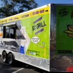 food truck and catering trailer