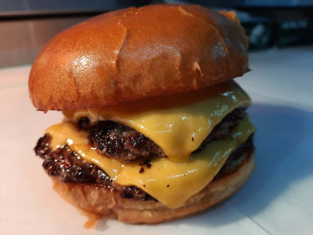 SC Grill's Amazing Food Truck Spring Hill FL Double Cheese Burger